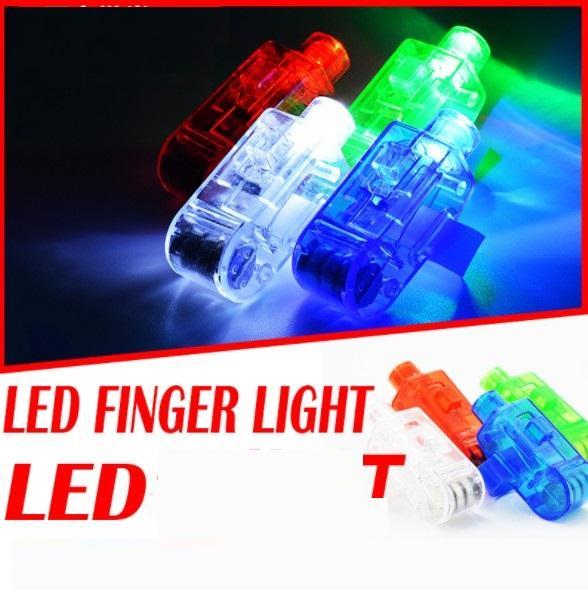 LED Finger Lights Glowing Dazzle Bébé Lumière Jouets Laser Émettant Lampes Noël Mariage Célébration Festival fête décor