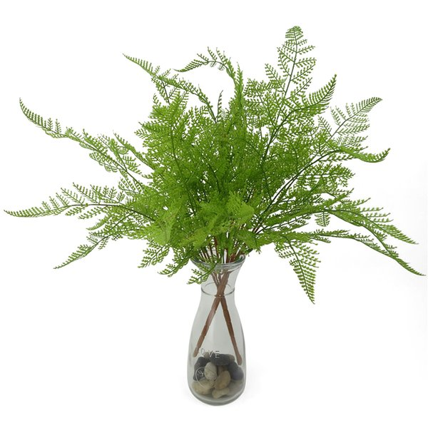 47cm Artificial Green Leaves Plants Simulation Persian Grass Plactic Fake Leaves for Home Garden Decoration Office Desk Ornament