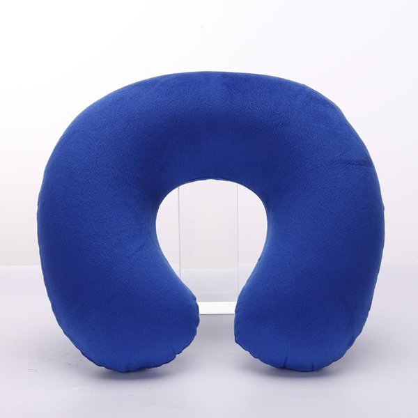 1PC New U Shaped Travel Pillow Car Air Flight Inflatable Pillows Neck Support Headrest Cushion Soft Nursing Cushion Black