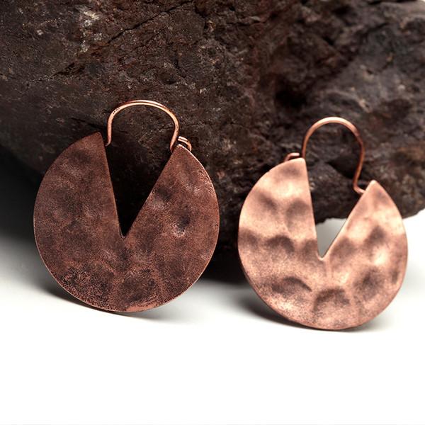 Boucle d'oreille Huggie délicat style rétro cuivre cuivre créatif boucles d'oreilles boucles d'oreilles Creative Design Stud Bohemian KKA6145