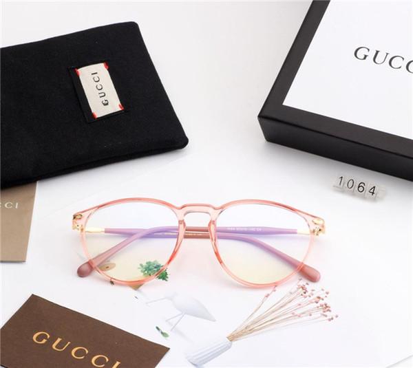 Sıcak Marka erkek Güneş Gözlüğü Adumbral Lüks Gözlük Erkekler Kadınlar için Tam Çerçeve ile Düz Tasarımcı Güneş Gözlüğü Anti-Mavi Işık Cam Kutusu ile
