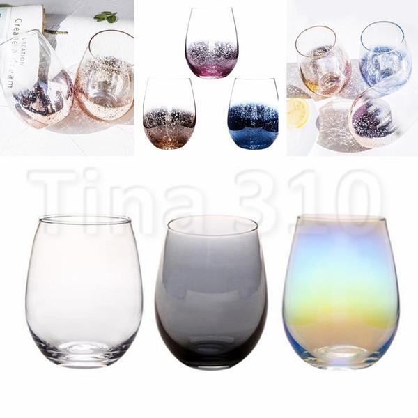 Nouveau cristal sans plomb œuf tasse verre à vin gobelet moderne grande capacité ionique électrodéposition arc-en-ciel transparent tasses de ménage 4760