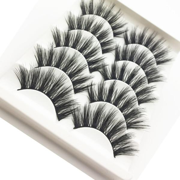 5 Pairs 3D Eyelashes Hand made False Eyelashes Makeup Mink Faux Eye lashes Lashes For Maquiagem Mink Cilios Makeups