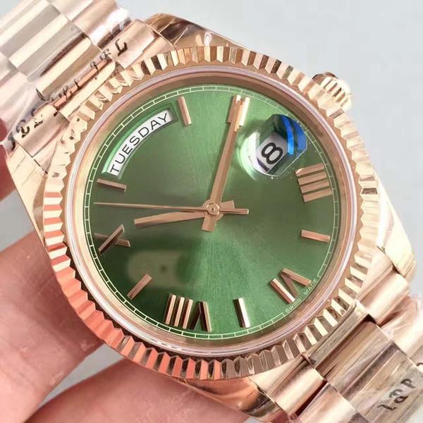Men Watch Rose Gold Watch 40MM vetro dello zaffiro 228238 Serie di alta qualità Movimento automatico originale fibbia pieghevole in acciaio inox
