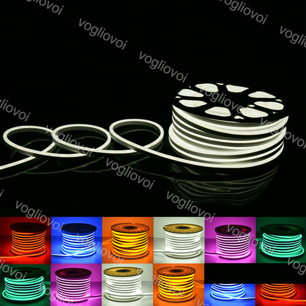 best selling Neon Sign Led Strips Lights SMD2835 220V PVC 120Led M 180 Angle Waterproof Indoor Outdoor For Disco Night Bar Christmas Party Decoration DHL