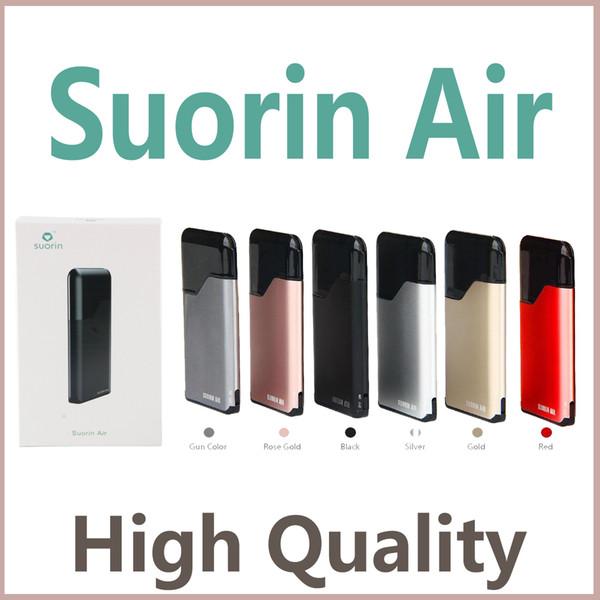 2019 Suorin Air Starter Kit Build-in 400mah Battery and 2ml Cartridge Portable Vape Kit Suorin Air Kit 7 Colors Electronic Cigarette DHL