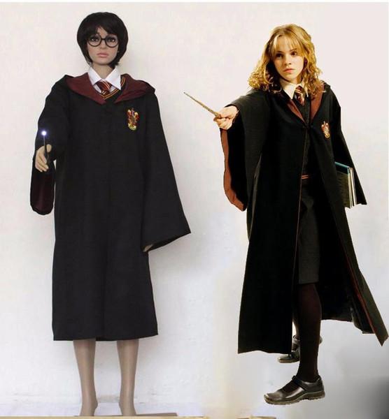 Costume Halloween Hermione.Cosplay Harri Costume Hermione School Uniform Ravenclaw Gryffindor Hufflepuff Slytherin Potter Robe Scarf Haloween Costumes Large Group Costumes