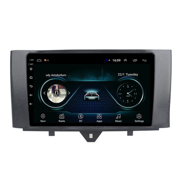 Android car GPS navigation free map front camera fast delivery HD1080 fast delivery for Mercedes Benz smart fortwo 2011-2015 9inch