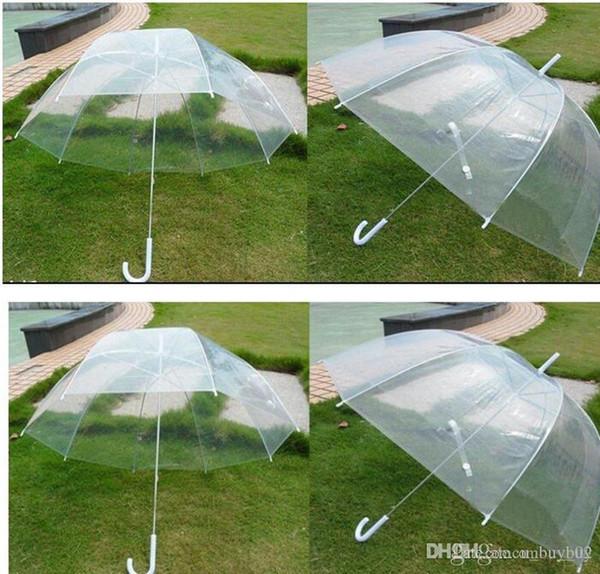 2018 Clear Cute Bubble Deep Dome Umbrella Gossip Girl Wind Resistance transparent Mushroom Umbrella Wedding Decoration free shipping