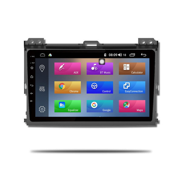 9inch IPS Touch Screen 2.5D 4GB ram 64GB rom Android 8.1 Car GPS Navigation Bluetooth 4G for Toyota Prado 2004-2009 Car DVD Player