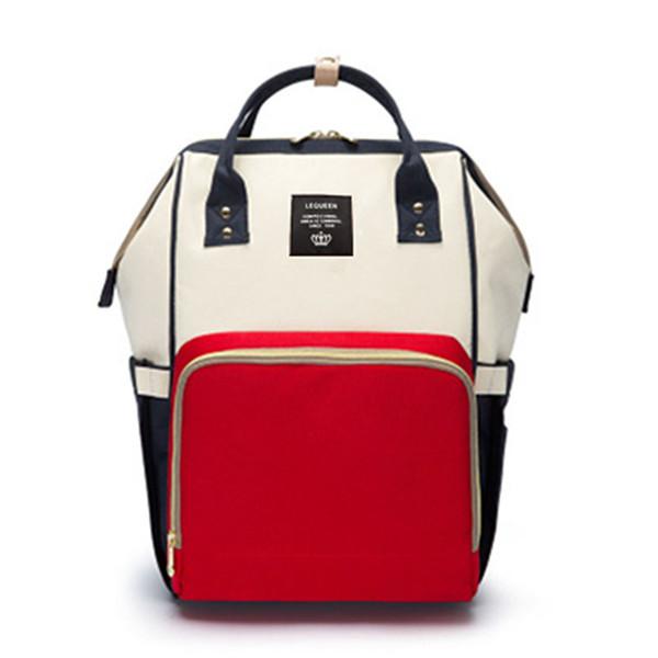 White-Red Backpacks