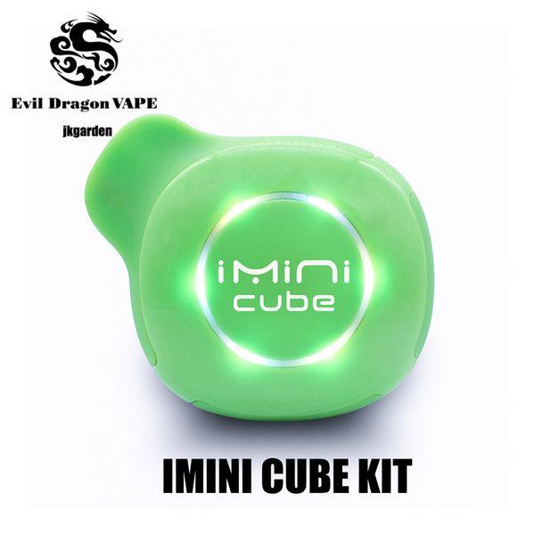 100% original imini cubo starter kit 550 mah bateria tensão ajustável vape caixa mod para 1.0 ml 510 rosca cartuchos de bobina de cerâmica genuíno