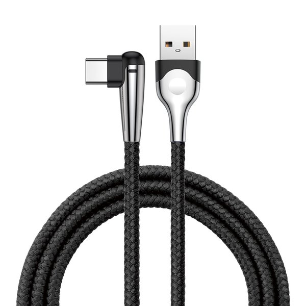 Baseus MVP Elbow 1m 2m Cable 90° Bend Design USB Quick Charging Type-C USB Data Charging Cable For Samsung S9 S8 Huawei Xiaomi For Unversal