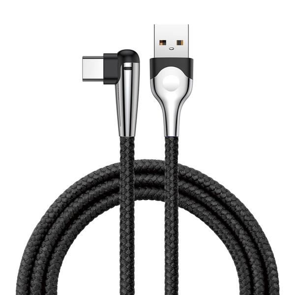 Baseus MVP Dirsek 1 m 2 m Kablo 90 ° Viraj Tasarım USB Hızlı Şarj Tipi-C USB Veri Şarj Kablosu Samsung S9 S8 Için Huawei Xiaomi Için Unversal