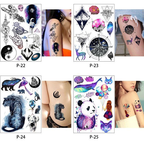 1 Sheet Women Rose Flower Decal Tattoo Water Transfer Waterproof Temporary Tattoo Sticker for Beauty Body Makeup ArtTatoo Stickers