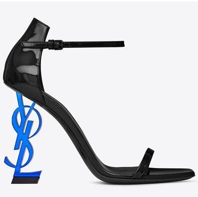 черный синий каблук