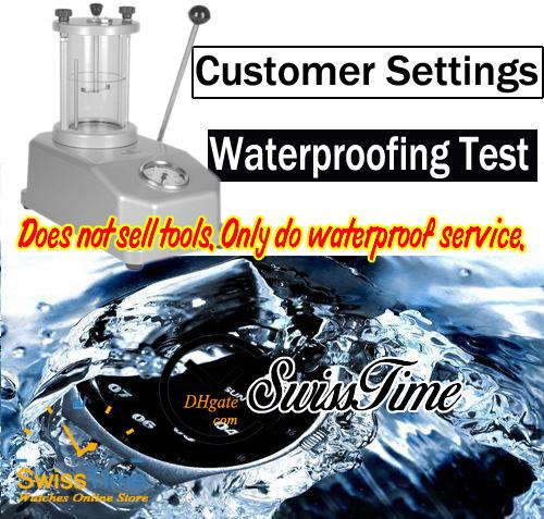 Customer-defined waterproof service