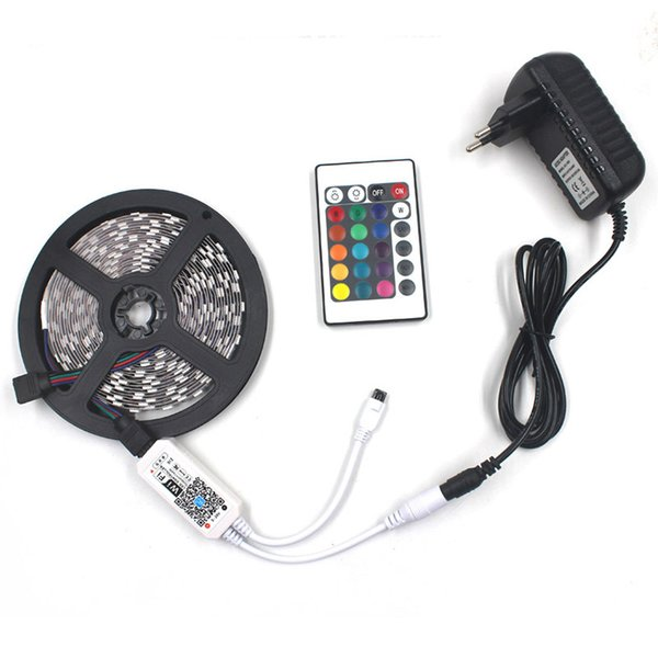 65.6ft 1200 strisce Led 5050 RGB resina epossidica IP65 striscia di luce morbida impermeabile con controller wifi 24 tasti supporto cellulare APP