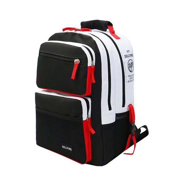 Costuras en blanco y negro Mochilas escolares para adolescentes Mochilas de viaje Mochila para portátil 15.6 Mochila para niños Mochila