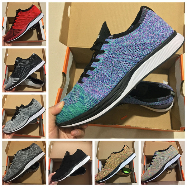 2018 Zoom Mariah Fly Racer 2 Women Mens Athletic all black red green Casual Shoes weaving Zoom Racer Sneaker Trainers Size 36-45