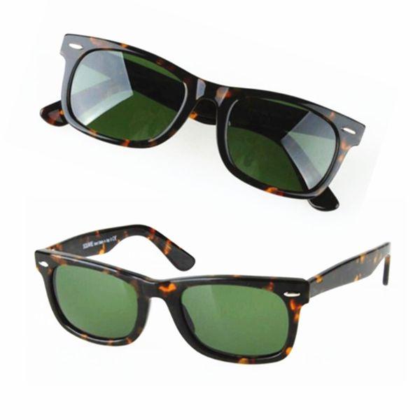 Quality Goods Matte Black Sunglasses Mens sun glasses Glass Lens Plank Sunglasses High Quality Womens Glasses UV Protection Sun glasses