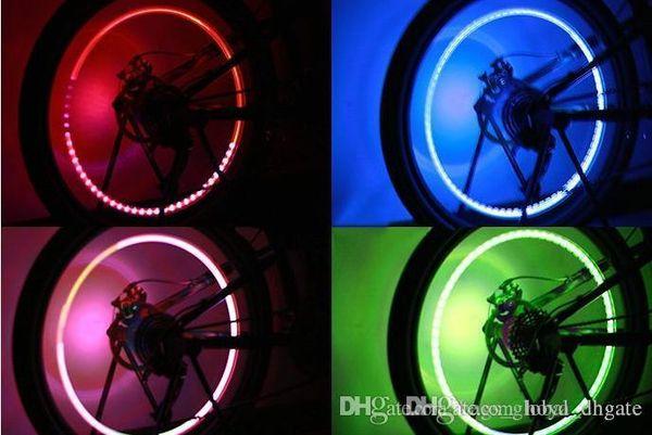 экономия Unique Energy велосипед воздуха лампа металла обшивки акриловых LED фоточувствительного шок лампа Мода Красочных Автомобильные фары шины