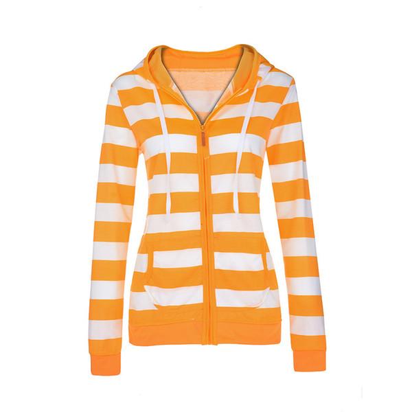 Jaqueta Feminina Plus Size Senhoras Zipper Tops Com Capuz Com Capuz Listrado Moletom Casaco Jaqueta Casuais Fino Jumper casacas para mujer -