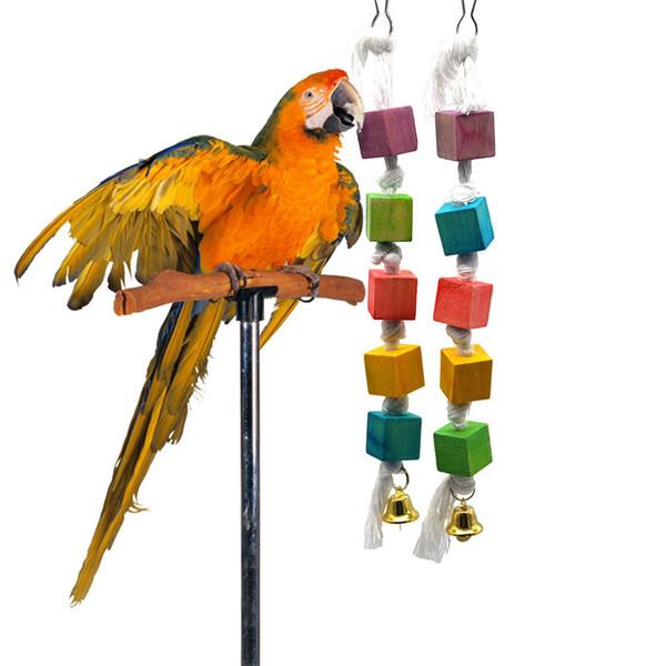 Mascotas Cuerda Juguetes Pattern Amazon Una Madera 23 A4 Del Parrot Gnawing De 2018 Aves Piezas Amerju Artículos Compre New Jaula KJcFTl1