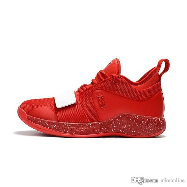 Baratos nuevos 2018 Mens PG zapatillas de baloncesto zapatos Elite 2.5 2s Cojín de China Rojo Blanco Zoom Air Paul George PG2 con la caja original para la venta