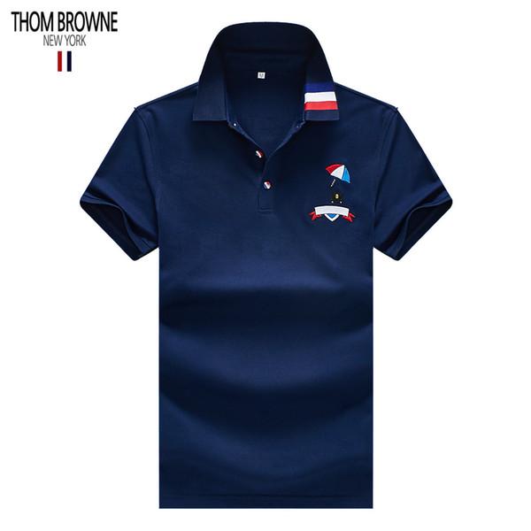 Designer mens poloTHOM shirt BROWNE famous American designer tees New York brand designer polos shirts high-end brand tees cotton t shirt
