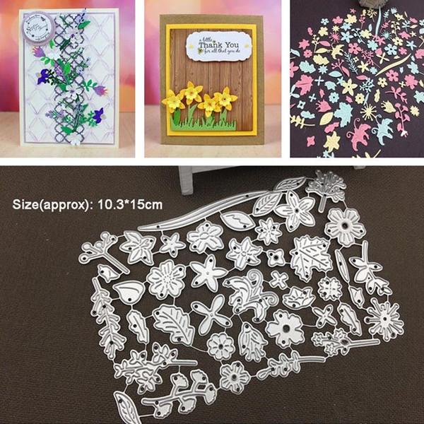 Yaprak Çiçekler Metal Kesme Ölür Kalıp Karalama Defteri Kağıt Craft Malzemeleri Bırak Nakliye Için DIY Fotoğraf Albümü için