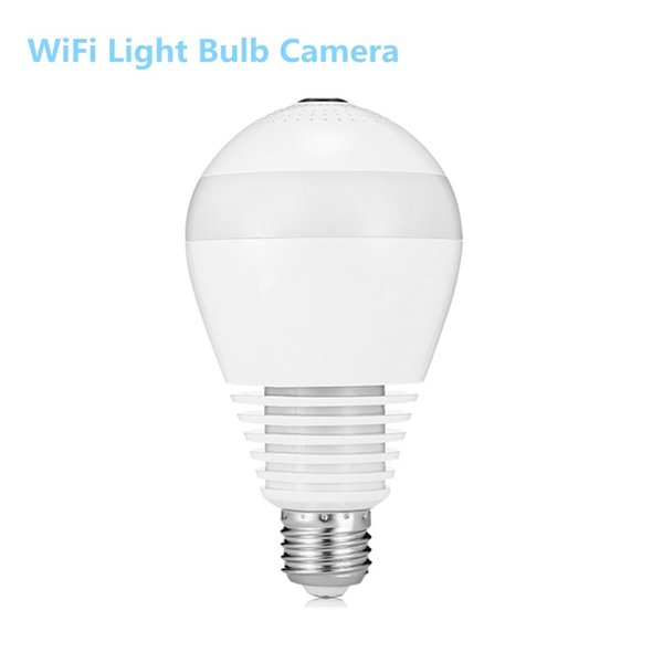 GBTIGER 2AKWJ - FVRF3602 WiFi Light Bulb Camera HD Webcam 2-way Audio LED Light Panoramic Surveillance Camera For iOS Android