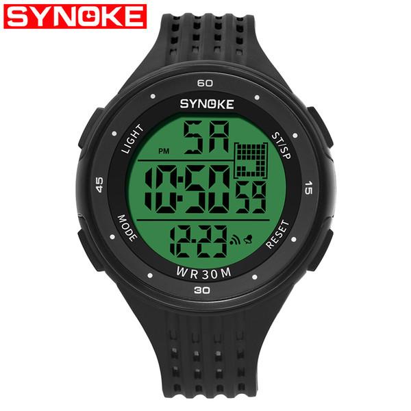 Hot Outdoor Sports Watch Men Multifunción 30 m Resistente al agua PU correa de plástico Pantalla LED Relojes Chrono Reloj Digital Reloj Hombre