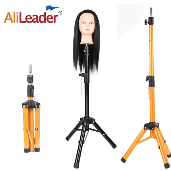 Alileader сильнее обучение регулируемый штатив парикмахерские манекен головы зажим стенд для человеческих волос парик делая стенд штатив 1шт