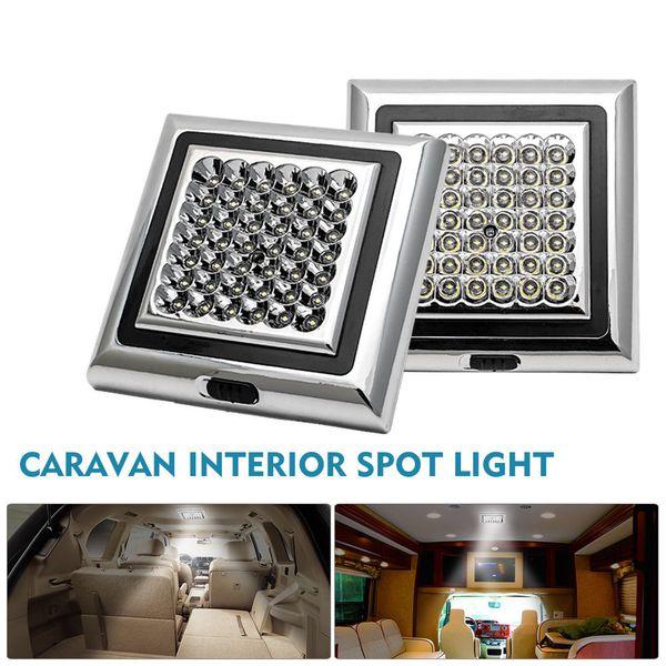 2x 42 LED 12 V Techo interior Techo Luz de techo Techo Cabina Spot Light Para Caravana Camper Boat Dome Universal