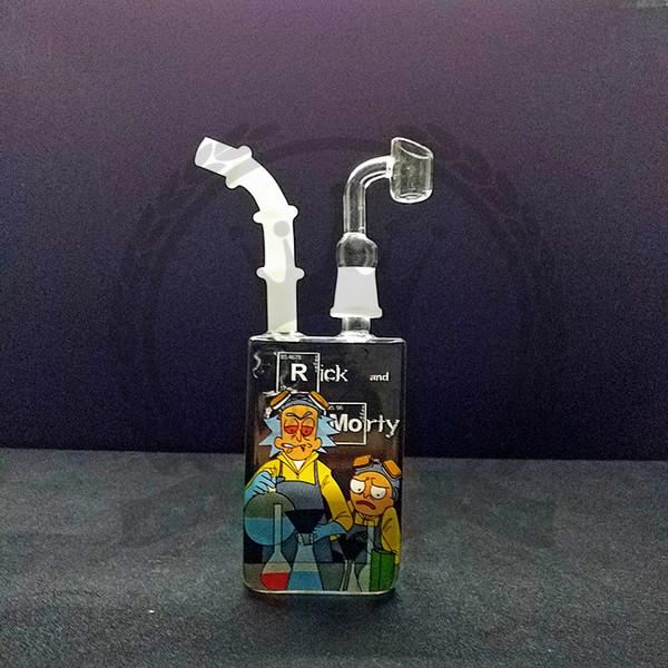 Bong aceite agua tubería DAB plataforma Plataformas doble panal perc tuberías embriagadores cera púrpura de cuarzo banger bongs rosa embriagadora burbujeador Cubilete