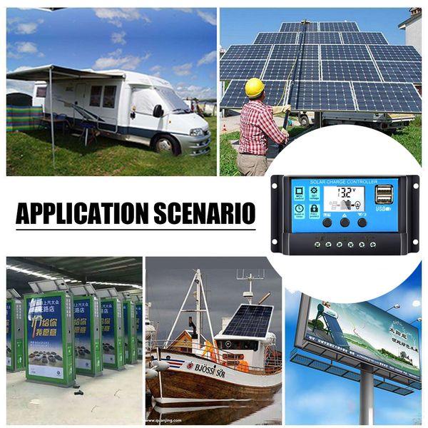 Meterk 12 V / 24 V Universal Solar Panel Controller Batterieladeregler Auto Mit Dual USB für DIY Solar Power Optional Typ