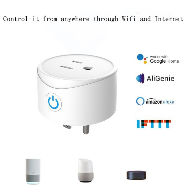 TP20A Smart Wifi Socket US Power Plug Mobile APP Ios Remote Control Works with Alexa Google Home for Smart Life Round