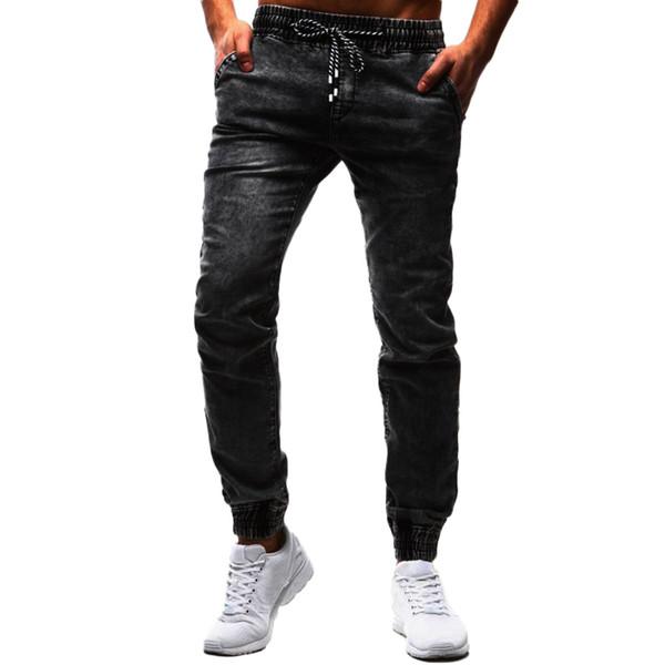 Vantage Drawstring Denim Men Jeans Masculino Elastic Pencil Trousers Black Jeans For Men Pants Slim Fit Calca Masculina 20