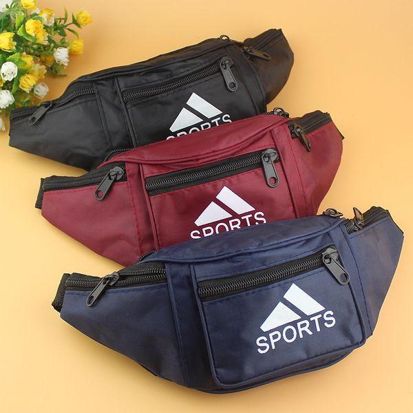 brand fanny Pack Embroidery letter Canvas Belt Waist Bag Unisex Cross Body Chest Bag Travel Shopping Money Bag Purse