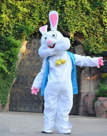 2019 Vente directe d'usine Blue Easter Bunny Bug Lapin Caricature Mascot Costume Fantaisie Robe Animal mascotte costume livraison gratuite
