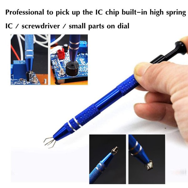 Newest 4 Claws Metal Grabber,Clamping Clip Pick Up Tools Tiny Components Pick Up Tools,IC Chip Component Catchers Repair Tools