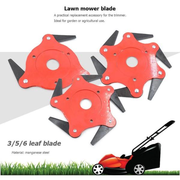 best selling 2019 NEWEST Garden Lawn Mower Blade Durable Manganese Steel Grass Trimmer Brush Cutter Head Garden Lawn Grass Trimmer Head Blade