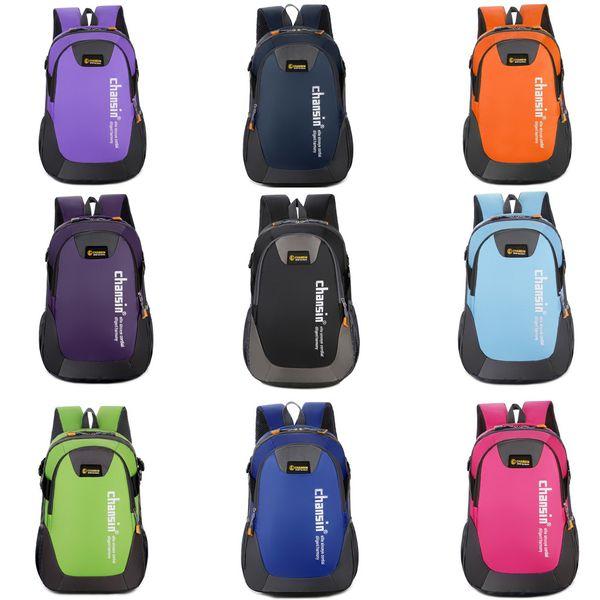 2019 bagpack Unise Qutdoor Multi-Function Oxford Brake Solid Color Backpack Travel Bag 25L Dropshipping mochila mujer