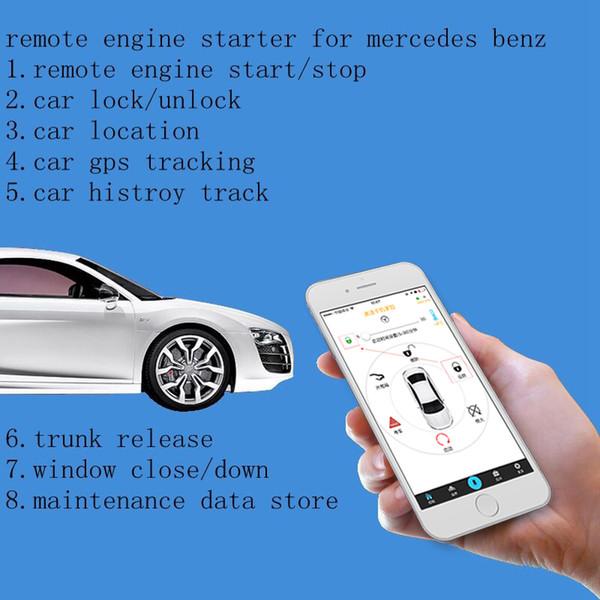 Plusobd 2018 Gps Tracker Avvio remoto Sistema di arresto Accensione Motorino di avviamento Allarme auto Sicurezza a 2 vie Per Glk X204