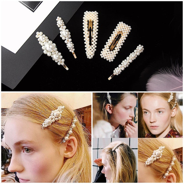 best selling Hot New Women Full Pearls Hairclip Metal Hairpins BB Hairgrip Girls Hair Accessories Hair Styling Tools Headdress Gift