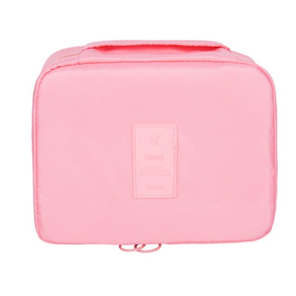 Duopindun Travel Makeup Cosmetic Wash Organizer Storage Bag Multi Color Box Shape Oxford Material High Quality