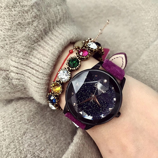 Kadınlar Hediye Bling Kuvars İzle Moda Casual Bayanlar Kadın Tırmanmak Saatler Elbise Kristal Elmas Lüks Kadınlar Saat Saatı