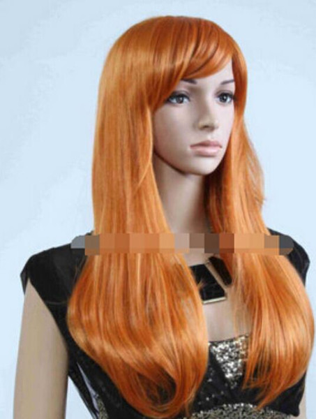 WIG LL<<< 002546 Fashion Women's Cosplay Party Full Wigs Long Parted Bangs Wig