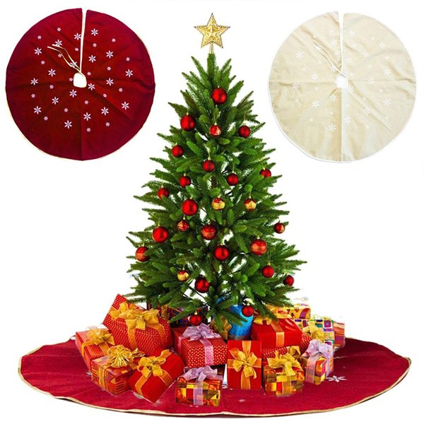 120cm kar tanesi Baskılı Yılbaşı Ağacı Etekler Merry Christmas Halı Dekor Home For Noel Natal Ağacı Etekler Yılbaşı Dekorasyon